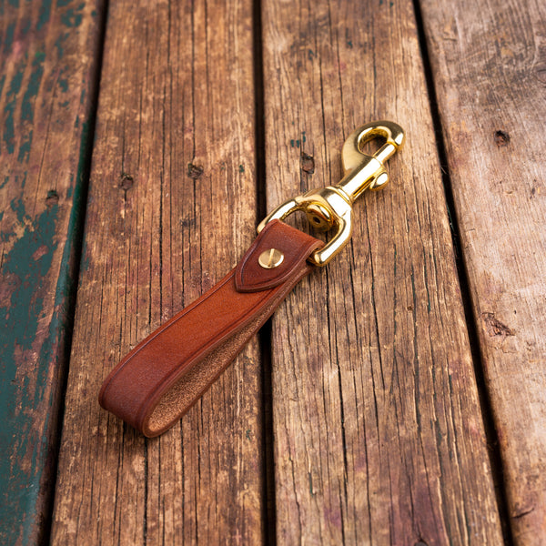 Handmade bridle leather key fob