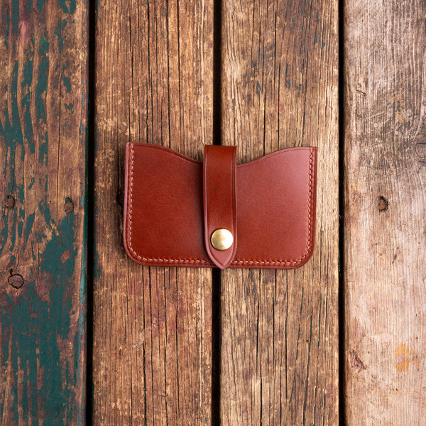 Handmade bridle leather creditcard case