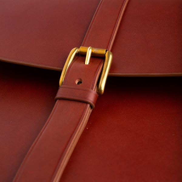 English bridle leather portfolio