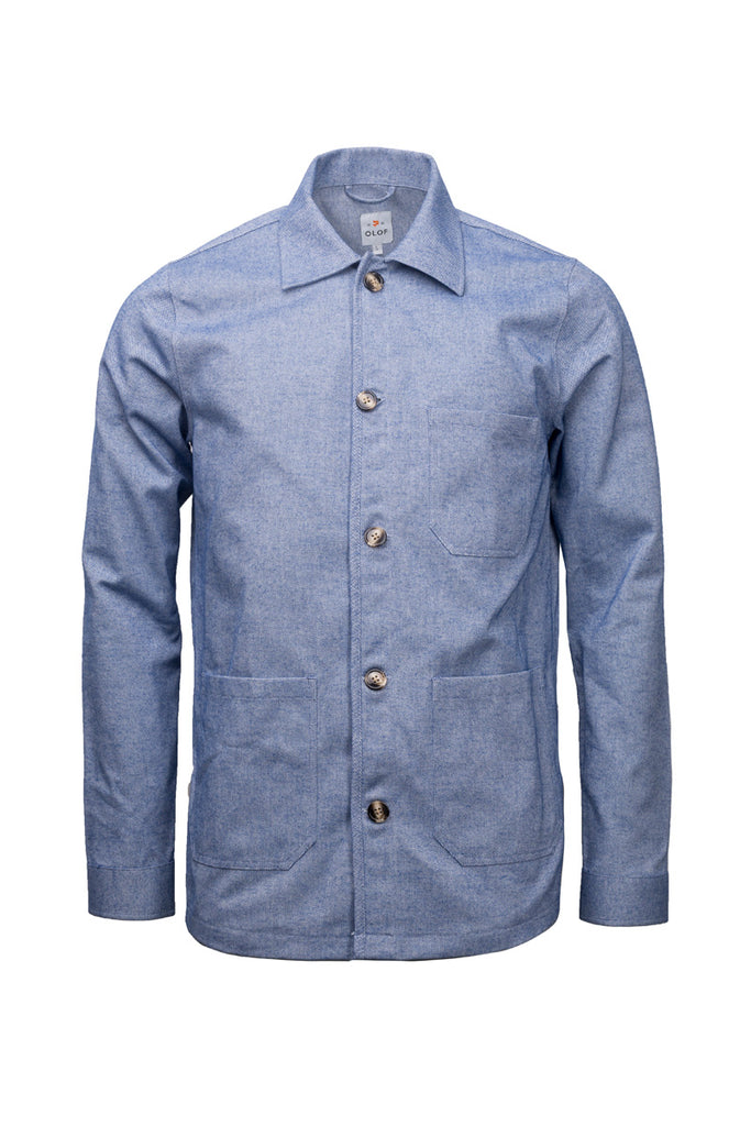 Cotton flannel overshirt