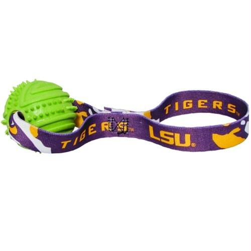 LSU Tigers Rubber Ball Toss Toy - staygoldendoodle.com