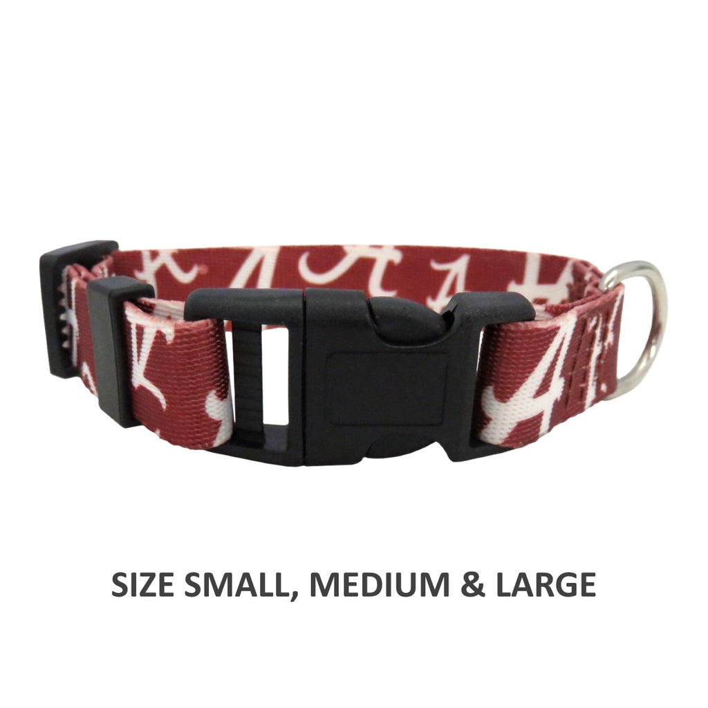 Alabama Crimson Tide Pet Nylon Collar - staygoldendoodle.com
