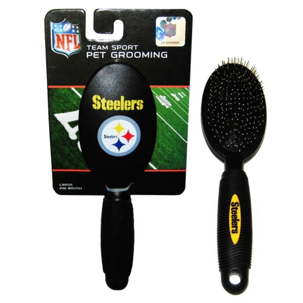 Pittsburgh Steelers Pet Grooming Brush - staygoldendoodle.com