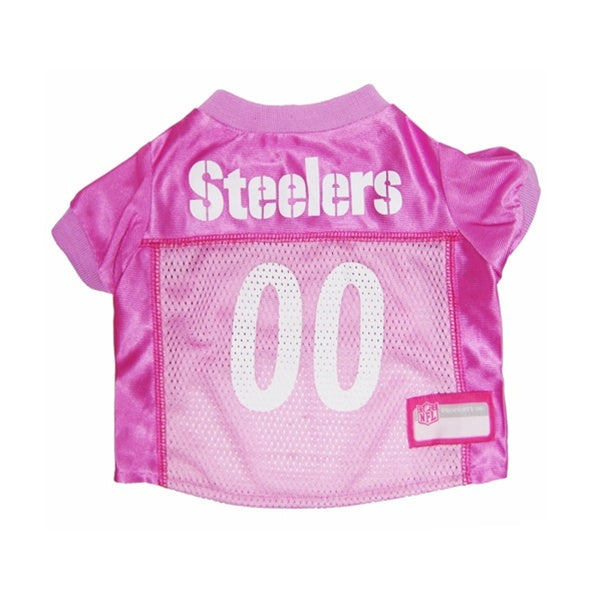 Pittsburgh Steelers Pink Dog Jersey - staygoldendoodle.com