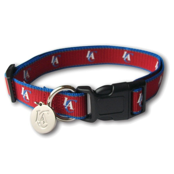 Los Angeles Clippers Reflective Dog Collar - staygoldendoodle.com