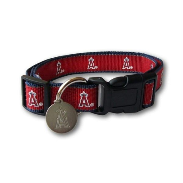 Los Angeles Angels Reflective Dog Collar - staygoldendoodle.com