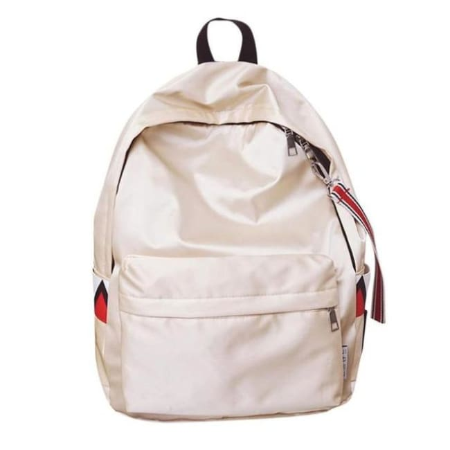 Anti Theft Waterproof Backpack - Beige / China - Luggage & Bags