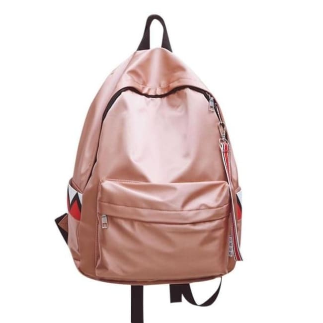 Anti Theft Waterproof Backpack - Pink / China - Luggage & Bags