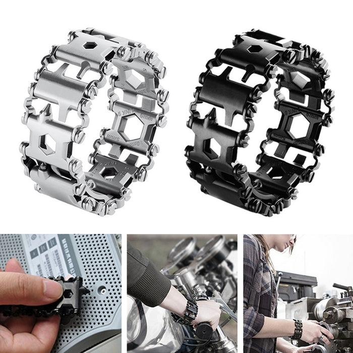 Wearable Tread 29-in-1 Multi-functional Tool Bracelet Strap and Screwdriver Emergency Kit
