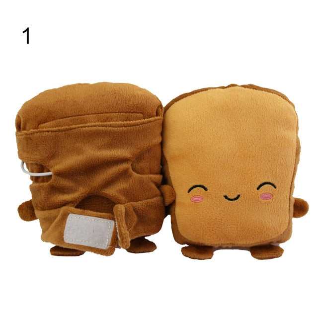 Toast Bread Soft Hand Warmer USB Heating Gloves Half Fingerless Mitten Women Warm Gloves fashion