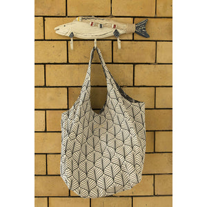 Beach Bag - Abstract - White