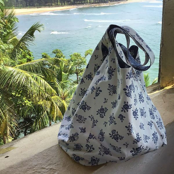 Beach Bag - English Rose - Cream