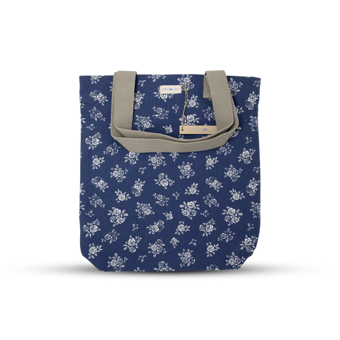 Canvas Tote - English Rose - Navy