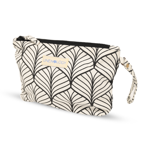 Makeup Bag - Abstract - White