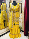 Yellow Embroidered Sharara