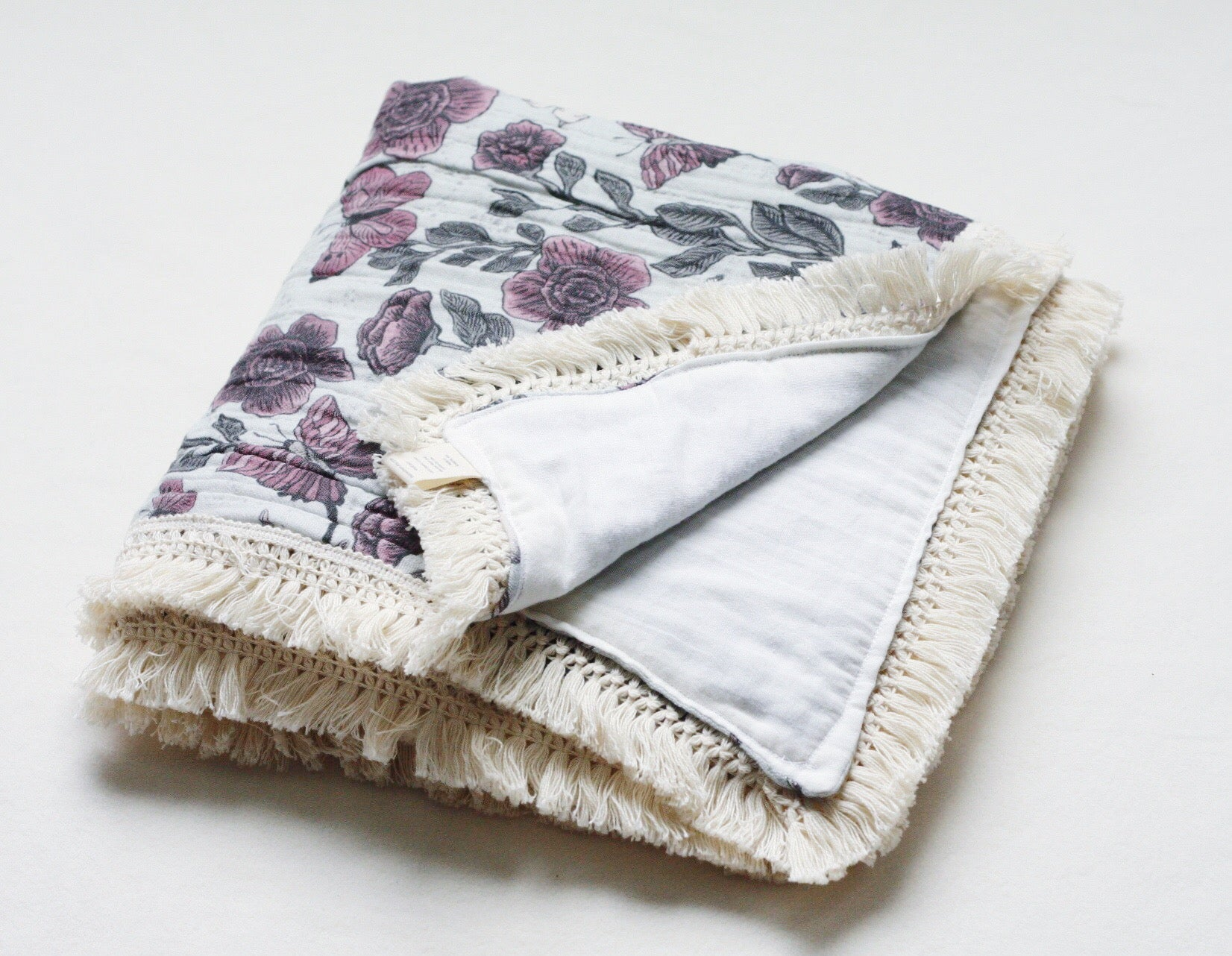 Birds and Butterflies Organic Cotton Heirloom Blanket