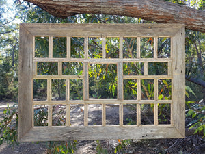 Rustic Grey Fence look large multi photo frame handcrafted Recycled Timber Picture Frames Australia