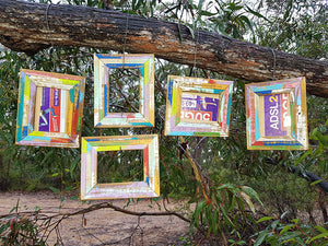 Wombat Happy Frames 8 opening Bright Colours unique Picture Frames handmade in Australia