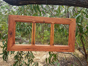 Authentic Repurposed Australian Brown gum  3-opening Multi Collage picture frame hand made