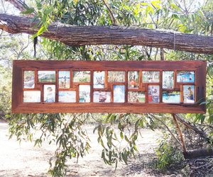 Eco Friendly 20 opening Recycled Timber Multi opening Family Photo Frame Australia