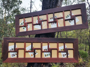 Authentic Australian Eco Friendly Recycled Timber Redgum Family Photo Album Frame