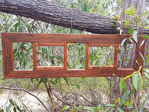 Recycled Timber Photo frame with 5 opening slots Eco Friendly made in Australia