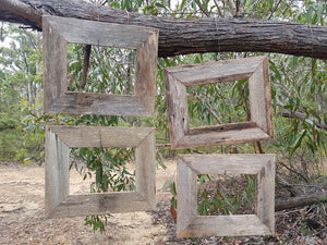 Repurposed Timber Rustic Grey Fence Look A4 Photo Frames made in Australia