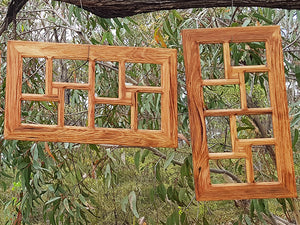 8 opening Wooden Photo Collage Frames handmade in Australia