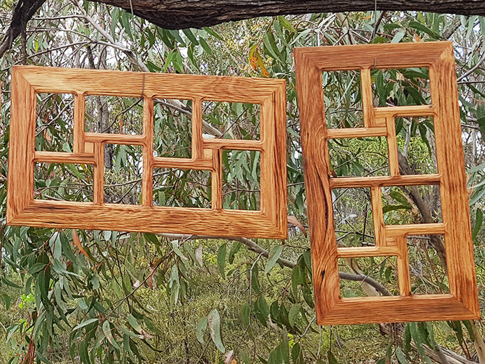 Brown Gum Wooden Multi Photo Collage Frame  made in Australia for 8 photos.