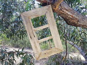 Weathered Rustic Grey Fence look 3 opening Australian made Recycled Timber Photo Frame