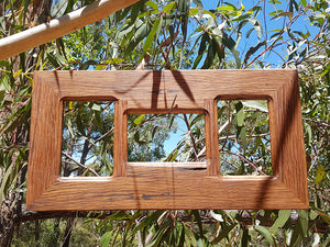 Wombat Frames Upcycled Australian Timber Triple Multi Collage Photo Frame