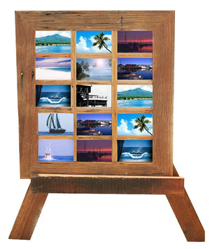 Australian recycled timber 10-opening family collage picture frames