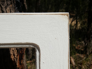 Vintage White Shabby Chic Picture Frames and mirrors Custom made with Authentic Recycled Timber in Australia