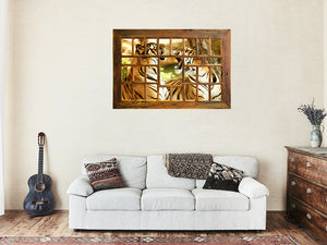 Large Wooden Multi Photo Frame made in Australia using Eco Friendly Recycled Timber