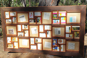 Extra Large Multi opening wooden wedding photo collage frame