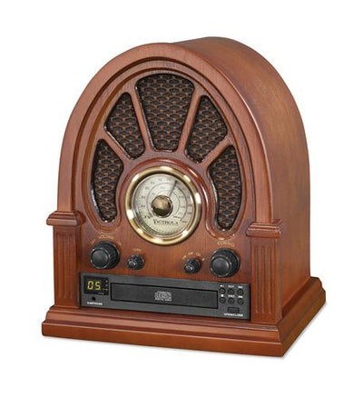 Vintage Wood CD Bluetooth Table Radio