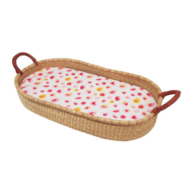 Bassinet Moses Basket Fitted Sheet Outlookbaby Floral Summer Blooms