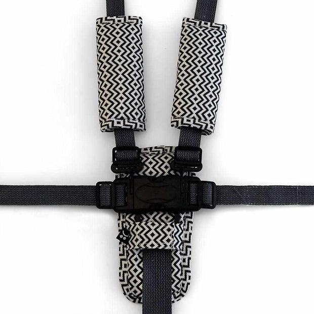 Harness Cover Set - Charcoal Aztec - Outlook Baby