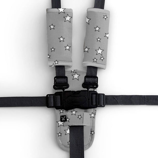 Harness Cover Set - Grey Stars - Outlook Baby
