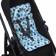Mini Pram Liner w Head Support - Indigo Rain