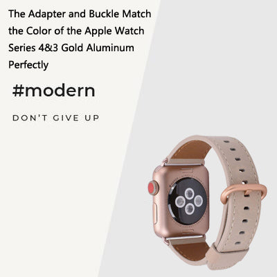 Apple Watch Band with Series 4/3 Gold adapter and buckle