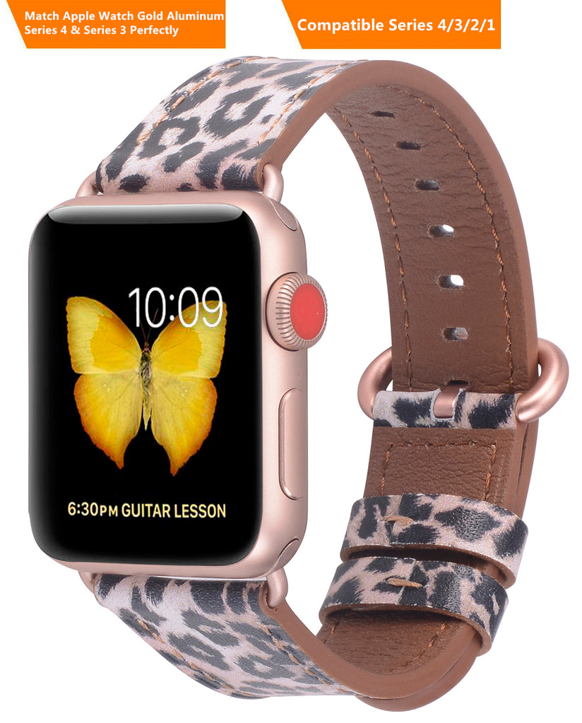 Apple watch band 38mm 40mm 42mm 44mm Leopard