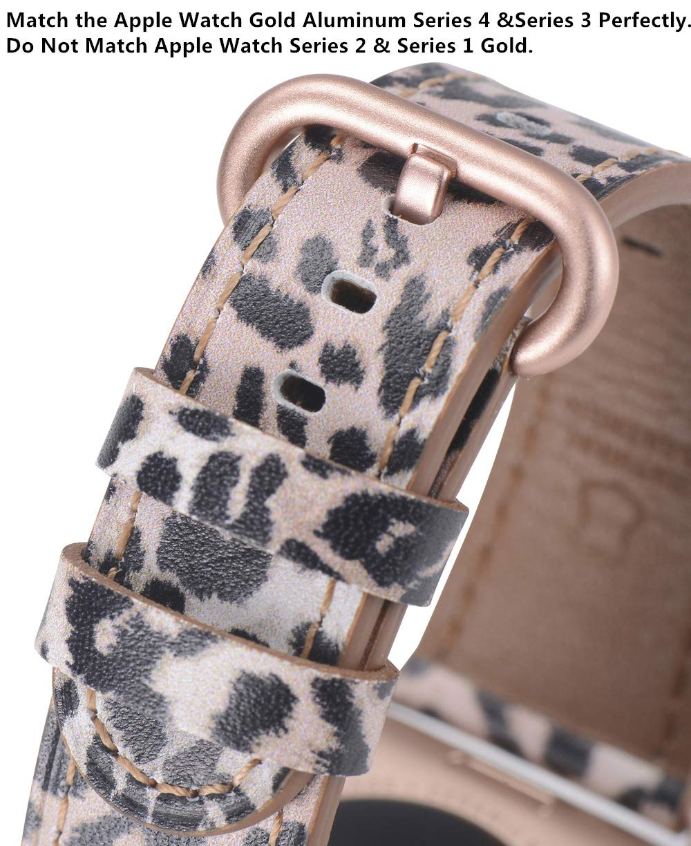 Apple Watch Band 38mm 40mm with Case Leopard