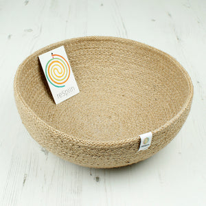 Jute Bowl - Large - Natural - The Wild Tree