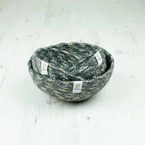 Jute Mini Bowl Set - Grey/White - The Wild Tree
