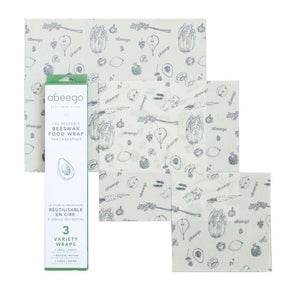 Reusable Beeswax Food Wraps - Variety Pack - The Wild Tree