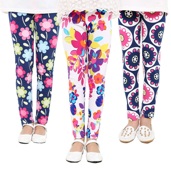 Baby Kids Children's printing Flower girls pants