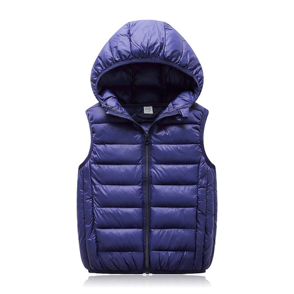 2019 Hooded Child Warm Cotton Boys Girls Vest For Age 3-12 Years Old coat