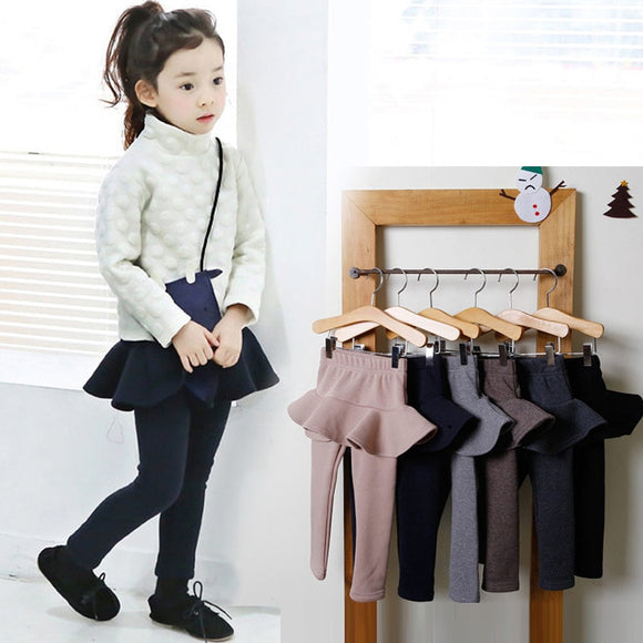 2019 2-10Y Girls Pants Kids Leggings Autumn Cotton Skirt-pants