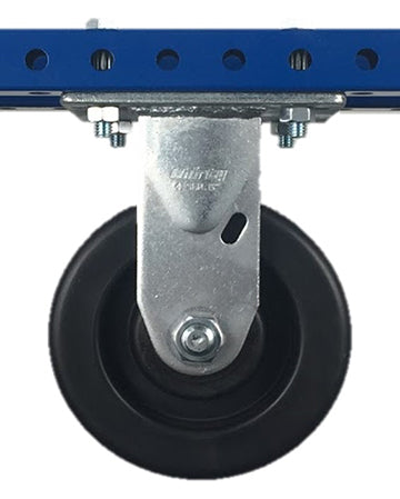 "6"" Polyolefin Rigid Plate Caster - 750 lb Weight Limit"